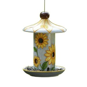 ceramic bird feeders, bird feeders, unique bird feeders