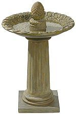 cement bird bath, bird feeder, unique bird feeders