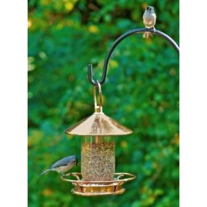 copper bird feeder