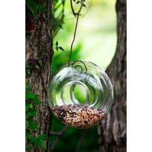 glass bird feeders, bird feeders, unique bird feeders